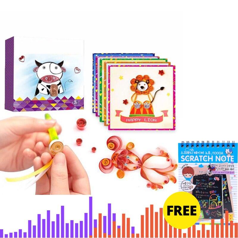 Originality Children Magic Paper Roll DIY Toy Kids Fun Handmade Paper Slip Art Craft Educational Toy Birthday Gift