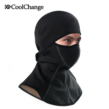 CoolChange Winter Cycling Cap Fleece Thermal Keep Warm Windproof Face Mask Bicycle Skiing Hat Cold Headwear Bike Face Mask Scarf недорого