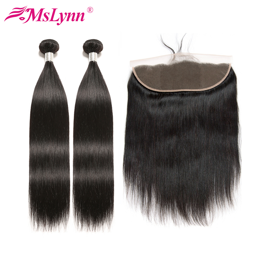 Straight Hair Bundles With Frontal Brazilian Hair Weave Bundles With Closure Human Hair Bundles With Closure Frontal With Bundle