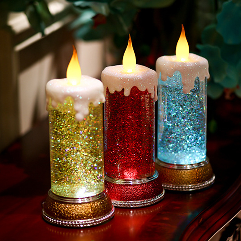 Creative LED Candle LED Night light USB Rechargeable Desk Lamp Candle Lamps for Bedroom Wedding Christmas Decoration Gift Light