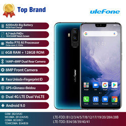 Перейти на Алиэкспресс и купить ulefone t2 4g smartphone 6.7inch 6gb 128gb mobile phone helio p70 octa core fingerprint wireless charge dual sim global version