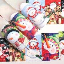 Pegatina de agua de transferencia de uñas LEMOOC, diseños de tema de Navidad, decoración de uñas, pegatinas de uñas marca de agua