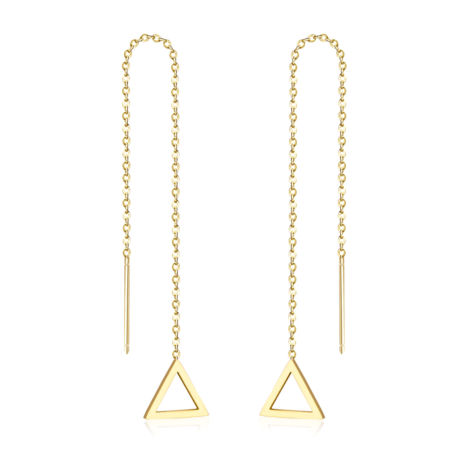 new arrival new images of factory price LUXUKISSKIDS Simple Triangle Dangle Earring Women Long Dangle ...