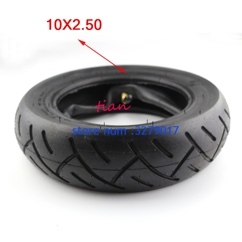 Size 10 inch Pneumatic 10x2.50 <font><b>Tire</b></font> fits Electric Scooter Balance Drive Bicycle Tyre <font><b>10*2.5</b></font> inflatable Tyre & inner tube image
