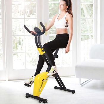 Mobilny rower domowy wyciszenie światło wewnętrzne i łatwe do przenoszenia składanie samochodów Fitness tanie i dobre opinie W102