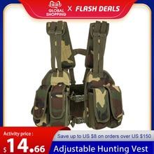 Gilet da caccia Tactical Chest Rig gilet militare modulare imbottito regolabile Mag Pouch portariviste borsa piattaforma gilet tattico