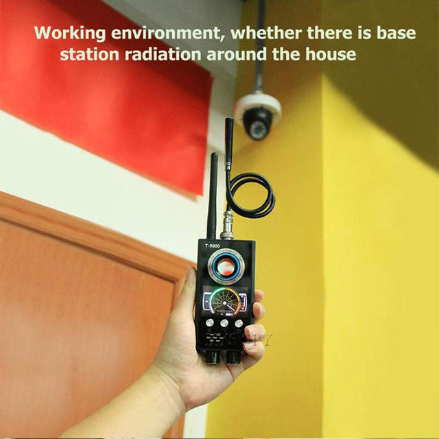 IR Laser RF Detector T9000 Anti Spy Cam Hidden Camera Scanner WiFi Signal GPS GSM Radio Phone Tracker Finder Private Security 5