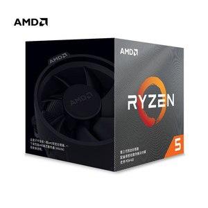 Image 1 - AMD Ryzen 5 3600X R5 3600X 3.8 GHz Six Core Twelve Thread 7NM 95W L3=32M 100 000000022 CPU Processor Socket AM4 with cooler fan