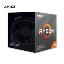 AMD Ryzen 5 3600X R5 3600X 3.8 GHz ستة النواة اثني عشر الموضوع 7NM 95 واط L3 = 32 متر 100 000000022 معالج وحدة المعالجة المركزية المقبس AM4 مع مروحة تبريد