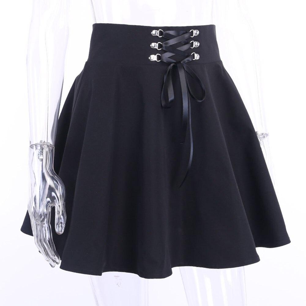 Dark Pleated School Girl Skirt  2