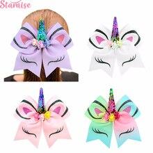 Staraise Unicorn Party Cheer Bows Decoration Headband Supplies Baby Shower Girl Princess Favors