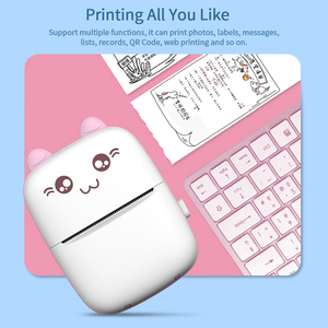 Image 5 - Portable Mini Thermal Printer Wirelessly BT 203dpi Photo Label Memo Wrong Question Printing with USB Cable imprimante portable