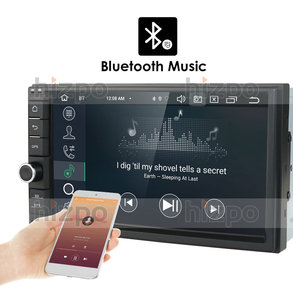 Image 2 - הכי חדש Hizpo 4GB RAM 64G ROM 2Din HD אנדרואיד 10 אוניברסלי רכב רדיו אודיו סטריאו GPS ניווט מדיה נגן קלטת מקליט BT