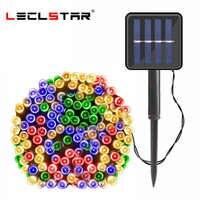 lampe solaire jardin 22m 200 LED solaire alimenté lampe chaîne fée lumières extérieur solaire lumières pour décoration de jardin imperméable fête noël guirlande