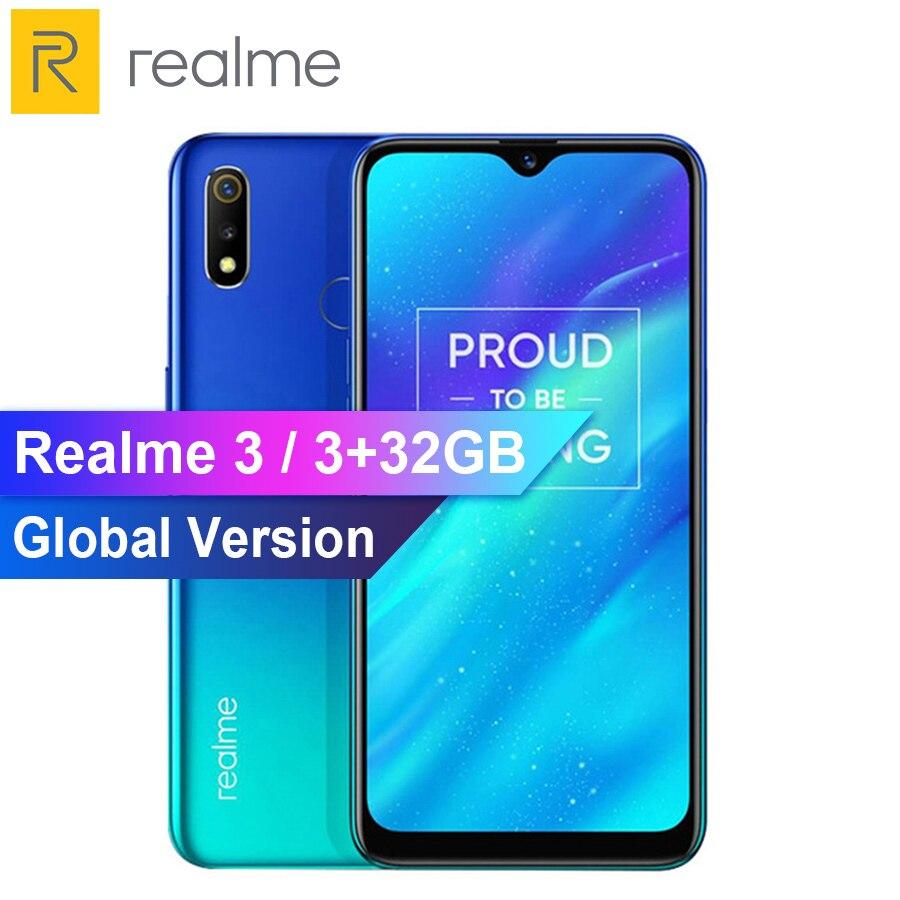 RU Version REALME 3 6.2 '' Dewdrop Android P 3GB 32GB Smartphone Octa Core Helio P70 AI Processor 4230mAh Mobile Phone