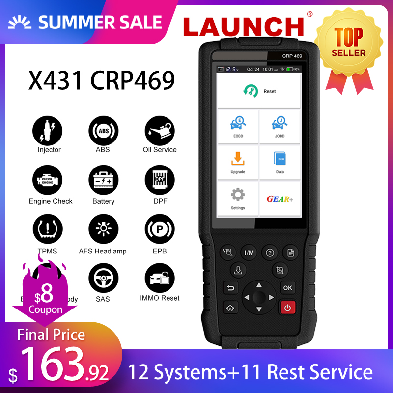 LAUNCH X431 Engine Code Reader CRP469 Car Diagnose Tool Oil ABS EPB DPF TPMS Reset OBD2 Scanner LAUNCH Diagnose Tool PK CRP429CCode Readers & Scan Tools   -