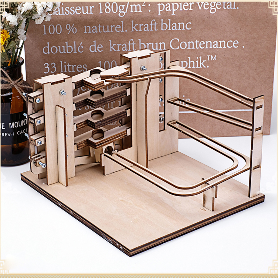Marble Rocker DIY Marble Run 3D Model