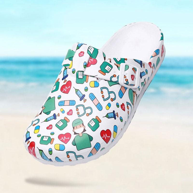 Hospital Surgical Medical Slipper Women Doctor EVA Non-slip Nurse Clogs Medical Shoes Nursing Clogs SPA Beauty Salon Shoes