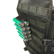 Tático molle magazine bolsa 12ga espingarda escudo portador de munição 10 round com clipe 12 calibre titular escudo acessórios militares