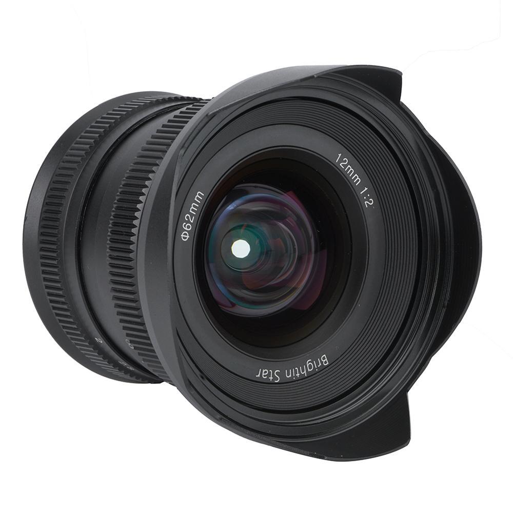 12mm f2.0 Mirrorless Camera Lens Manual Focus Super Wide angle Fixed Focus Lens for Canon EF M/Sony E/Fujifilm FX/M4/3 MountCamera Lens   -