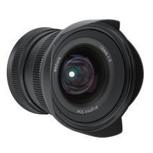 12mm f2.0 lustrzany obiektyw aparatu ręczne ustawianie ostrości super szeroki kąt stała gęstość wiązki obiektyw do modeli canon EF M/Sony E/Fujifilm FX/M4/3 mocowanie