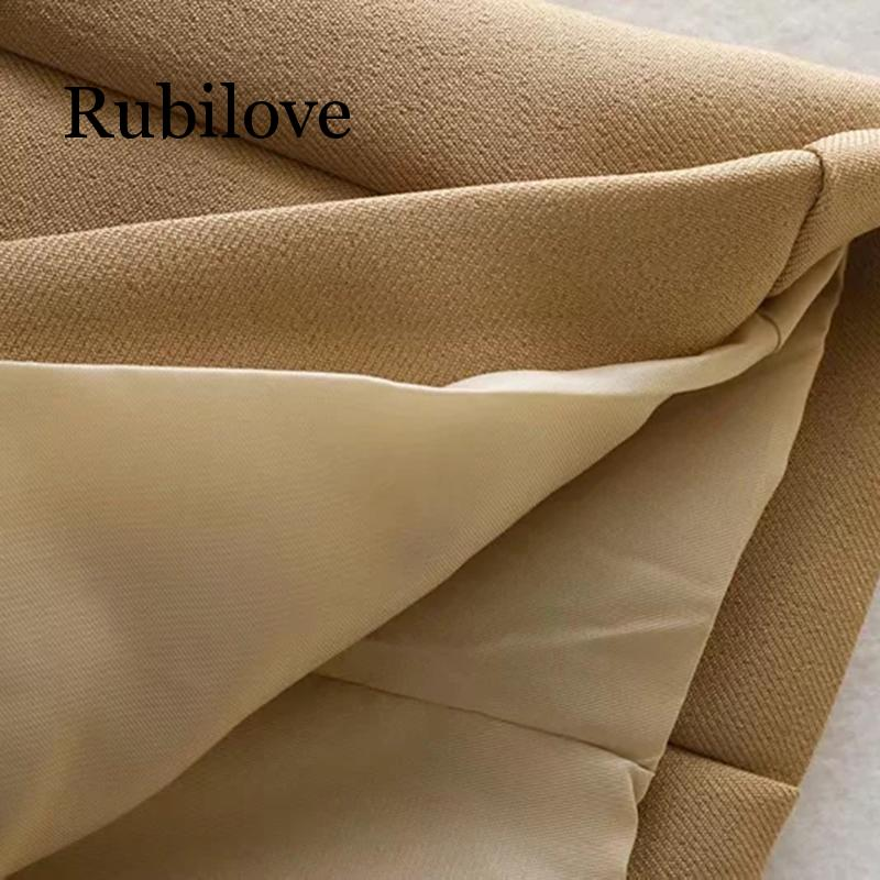 Rubilove 2019 Women Khaki Casual Spring Autumn Jacket Female Elegant Adjustable Waist With Belt Long Sleeve Outwear in Jackets from Women 39 s Clothing
