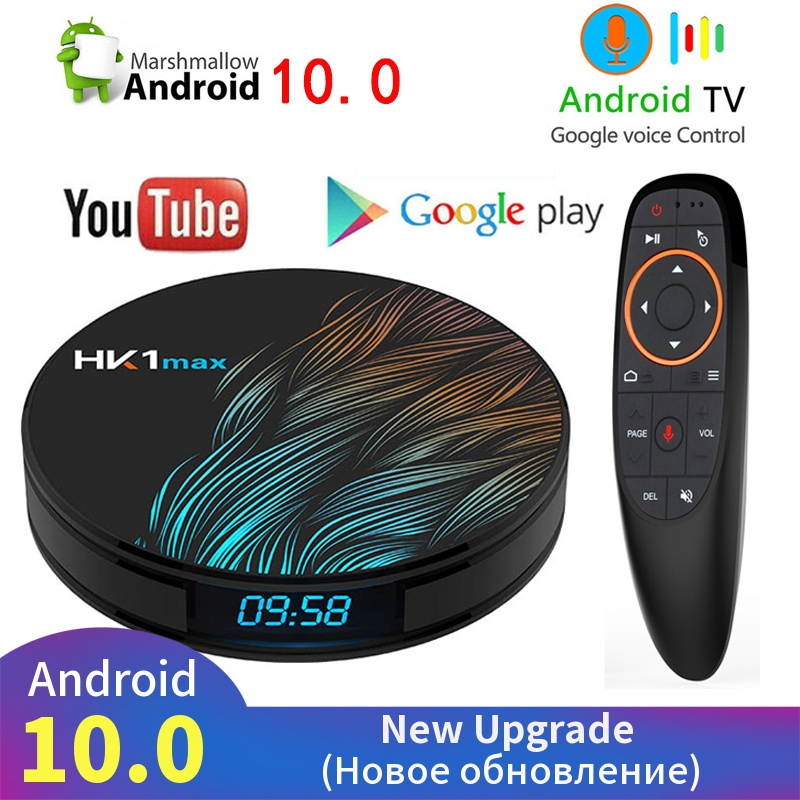 4K Smart TV BOX Android 10 0 4GB 64GB HK1 MAX TV receiver Wifi Media player Google Assistant Fast Set top Box HK1 MAX PK H96 MAX