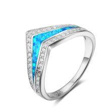 Fdlk Модный женский v образный свадебный браслет с голубым огненным