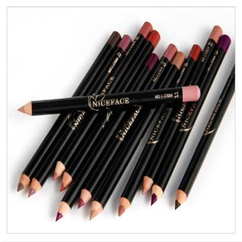 12 Colors Fashion Lip Pencils Matte Lipliner Waterproof Smooth Colorful Silk Nude Lipstick Pen Long Lasting Pigments Lip Makeup 1
