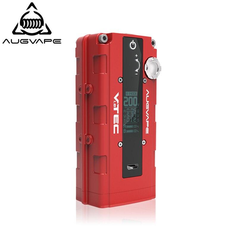 Augvape VTEC1. 8 nouvelle Version Cigarette électronique mécanique Mod Box 200W boîte à cigarettes électronique Mod 18650 batterie Mode Vape