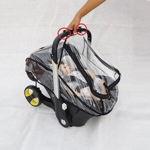 Image 4 - Foofoo مقعد السيارة معطف واق من المطر عربة طفل الملحقات غطاء للمطر غطاء مقاوم للماء ل Doona عربة
