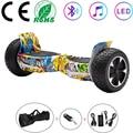 Scooter électrique 8.5 pouces Hoverboard Graffiti hip hop tout terrain auto équilibrage Scooter 2 roues Balance Board Bluetooth + clé + sac|Scooters auto-équilibrés|Sports et Loisirs -