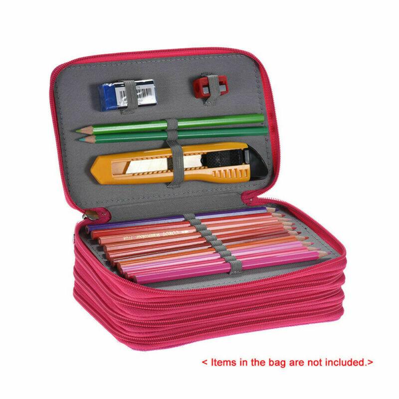 High Capacity Box Stationary Pen Pouch Bag Makeup Storage Bag Pen Pencil Case 72 Pencil Case Bag Organizer Pouch Case Bag