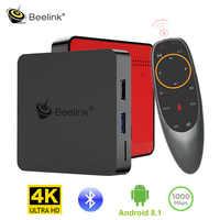 Beelink GT1 MINI Android 8.1 TV Box avec télécommande vocale Amlogic S905X2 2.4G 5.8G WiFi 1000Mbps BT4.0 Support lecteur multimédia 4K H.265