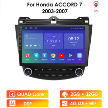 Multimedia Video-Player Car Radio 2006 2005 2008 Android 9.0 2din Honda Accord Navigation Gps