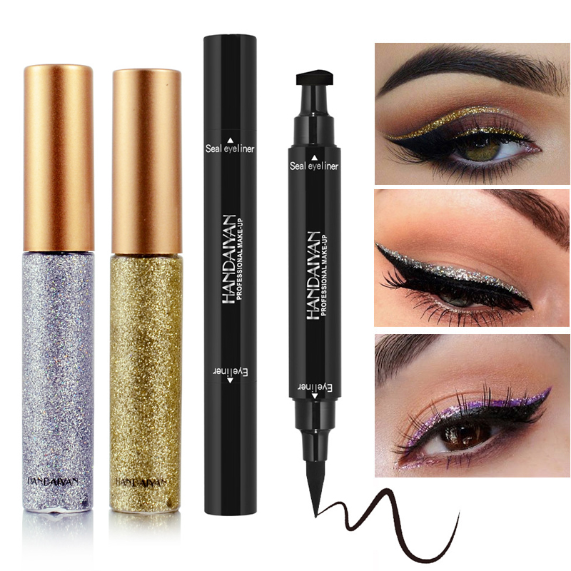 Waterproof Eyeliner Pencil Glitter Eyeshadow Pen Easy To Wear Matte Eyeliner Pen Long Lasting Eye Beauty Cosmetic Makeup Tools