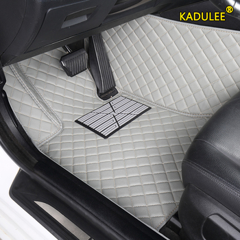 KADULEE Custom car floor mats for Audi all model A1 A3 A8 A7 Q3 Q5 Q7 A4 A5 A6 S3 S5 S6 S7 S8 R8 TT SQ5 SR4-7 car foot mats image