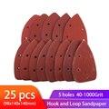 25pcs Self-adhesive Sandpaper Triangle Sander Sand Paper Hook Loop Sandpaper Disc Abrasive Tools For Polishing Grit 40-1000