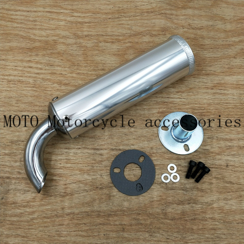 6 Color Universal metal 20MM Motorcycle Racing Exhaust Muffler Silence Silencer 2 Stroke Motorcycle Exhaust Pipe Muffler image