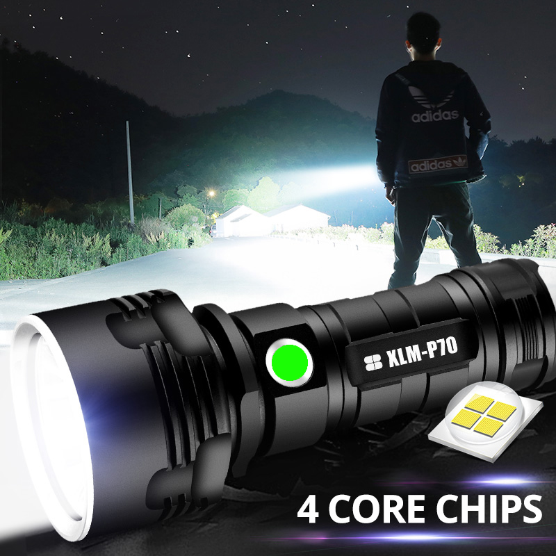 Super Powerful XHP70 LED Flashlight XHP50 Tactical Torch USB Rechargeable Linterna Waterproof Lamp Ultra Bright Lantern Camping