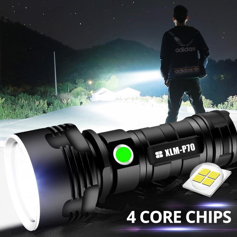 Super Powerful XHP70 LED Flashlight XHP50 Tactical Torch USB Rechargeable Linterna Waterproof Lamp Ultra Bright Lantern Camping