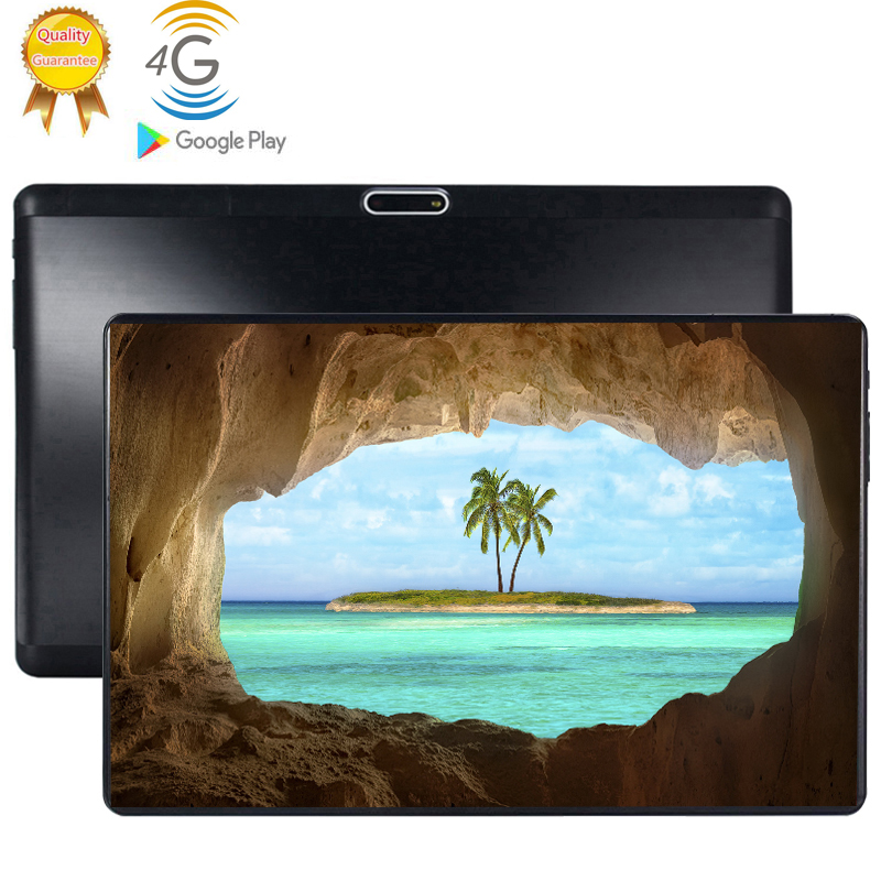 Tablets Android 9.0 Tablet 10 Inch Google Play 2.5D Tempered Glass Screen Octa Core SIM 4G LTE WIFI GPS RAM 6GB 128GB Tablet PC