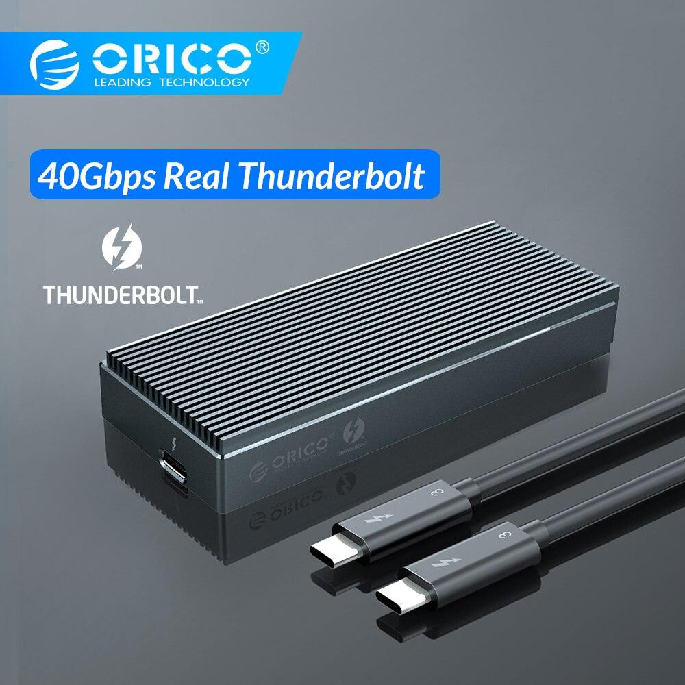 ORICO Thunderbolt 3 40 Гбит/с NVME M.2 SSD корпус 2 ТБ Алюминиевый USB C с 40 Гбит/с Thunderbolt 3 C к C кабель для ноутбука Настольный
