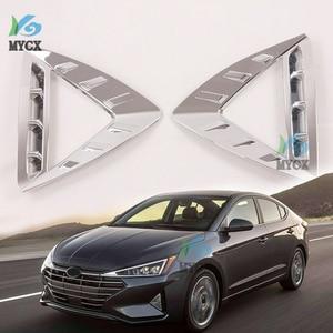HOT FOR -Hyundai Elantra 2019 2020 Front Fog Lamp Frame Decoration Special Fog Lamp Spotlight Fog Lamp Decoration Strip