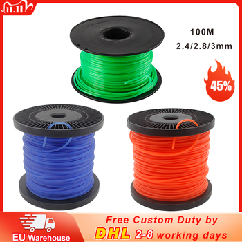 1.6mm/2mm/2.4mm/2.8mm/3mm Grass Trimmer Line 100/260m Strimmer Brushcutter Trimmer Nylon Rope Cord Round Roll Grass Cutting Line