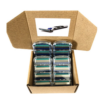 Custom Packaging Gillette Fusion 5 Layer Men Razor Blades Shaving Cassettes Men Shaver Blades Compatible Blades