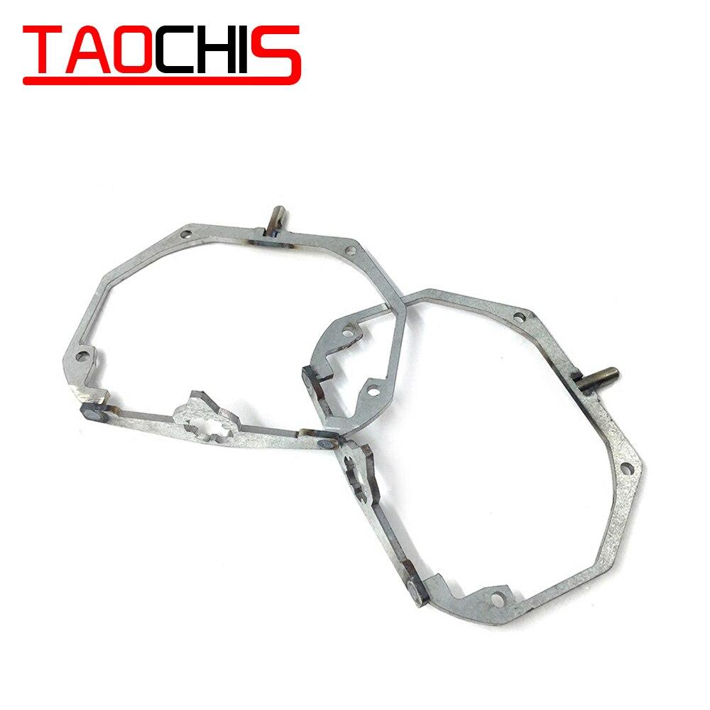 TAOCHIS adaptador de marco de decoración de coche para LEXUS GX460 ES240 IS250 LX570 ES350 ES300H GS Hella 3r G5 lente proyector retrofit