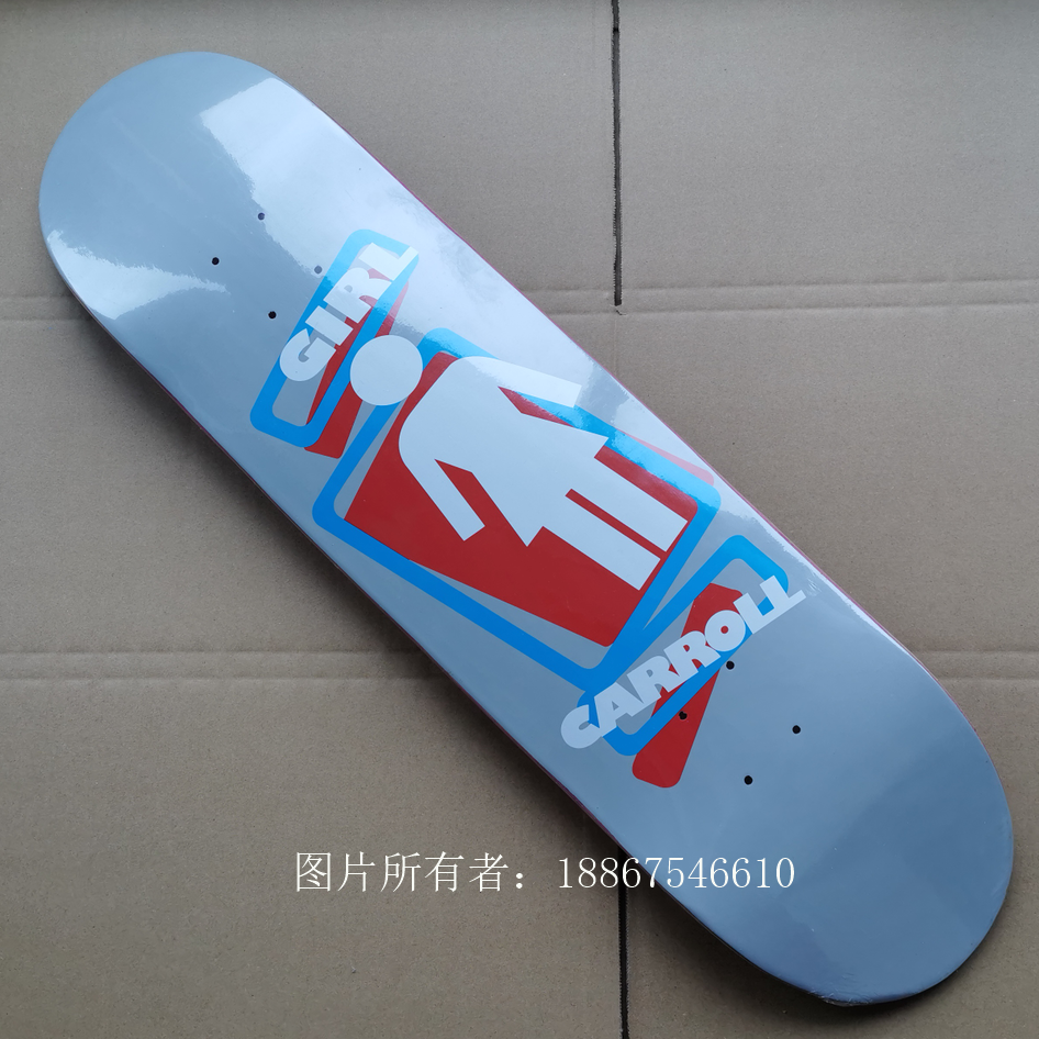 8.125inch Girl Skateboard Deck Good Quality Canadian Maple Epoxy Glue Skate Decks Four Plies Dyed Red Color Professional Level