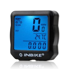 цена на INBIKE Wired Bicycle Odometer Waterproof Backlight LCD Digital Cycling Bike Computer Speedometer Suit for Most Bikes