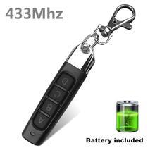4 כפתורי 433Mhz שלט רחוק מוסך שער דלת פותחן שלט רחוק מעתק שיבוט חשמלי דלת להעתיק בקר אנטי  גניבה